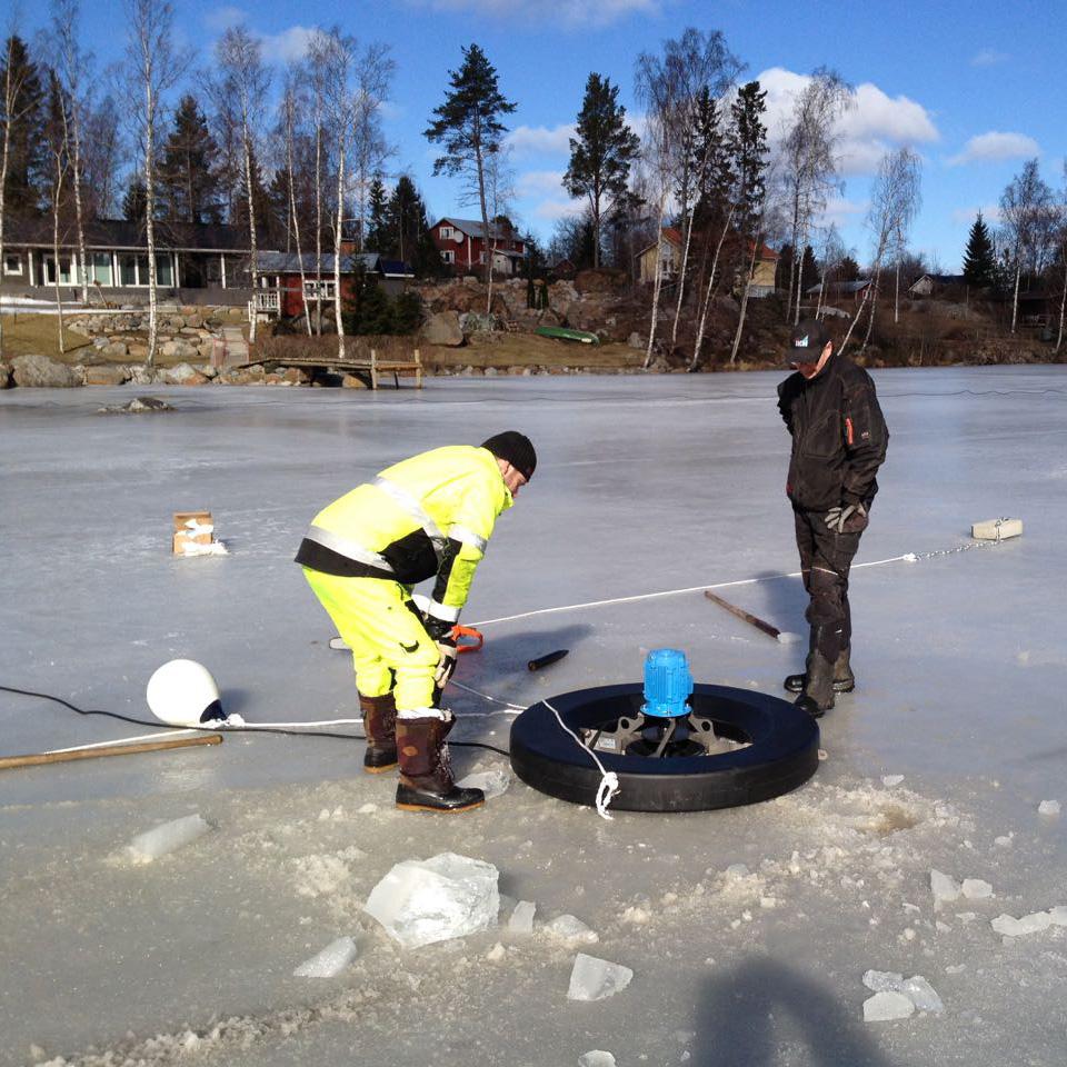 Flytringen kommer rätt snart att sjunka in i isen. Det blir ingen lång första säsong.