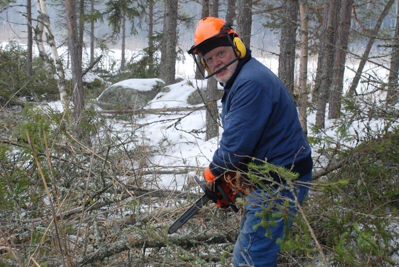 Vår talkoförman Jukka.