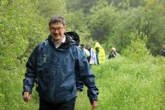 Kommundirektören på spången vid Vekasund.
