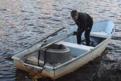 Betongring med båttransport